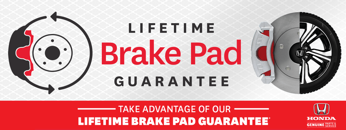 Honda Lifetime Brake Pad Guarantee